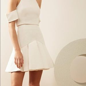 C/MEO COLLECTIVE White Flared No Competition Skirt
